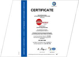 Knorr Präzisionsteile Sachsen - Qualität nach ISO 9001:2008 - Herstellung und Vertrieb von Präzisionsdreh- und Frästeilen sowie Baugruppen aus Metall und Kunststoffen