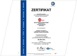 Knorr Präzisionsteile Sachsen - Qualität nach ISO 9001:2015 - Herstellung und Vertrieb von Präzisionsdreh- und Frästeilen sowie Baugruppen aus Metall und Kunststoffen